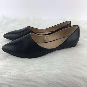 Franco Sarto 6.5 Pointy Toe Black Flats Hazeline